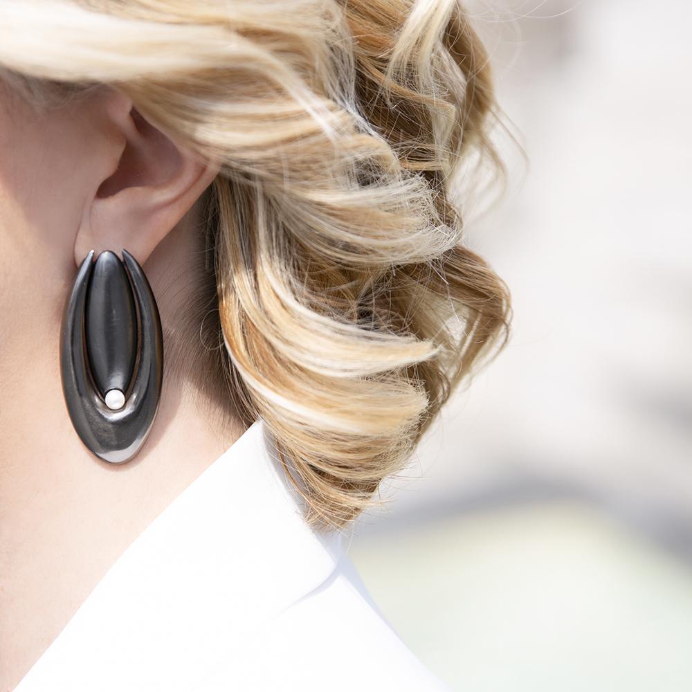 Orecchini Double Brancusi - Giulia Barela Jewelry
