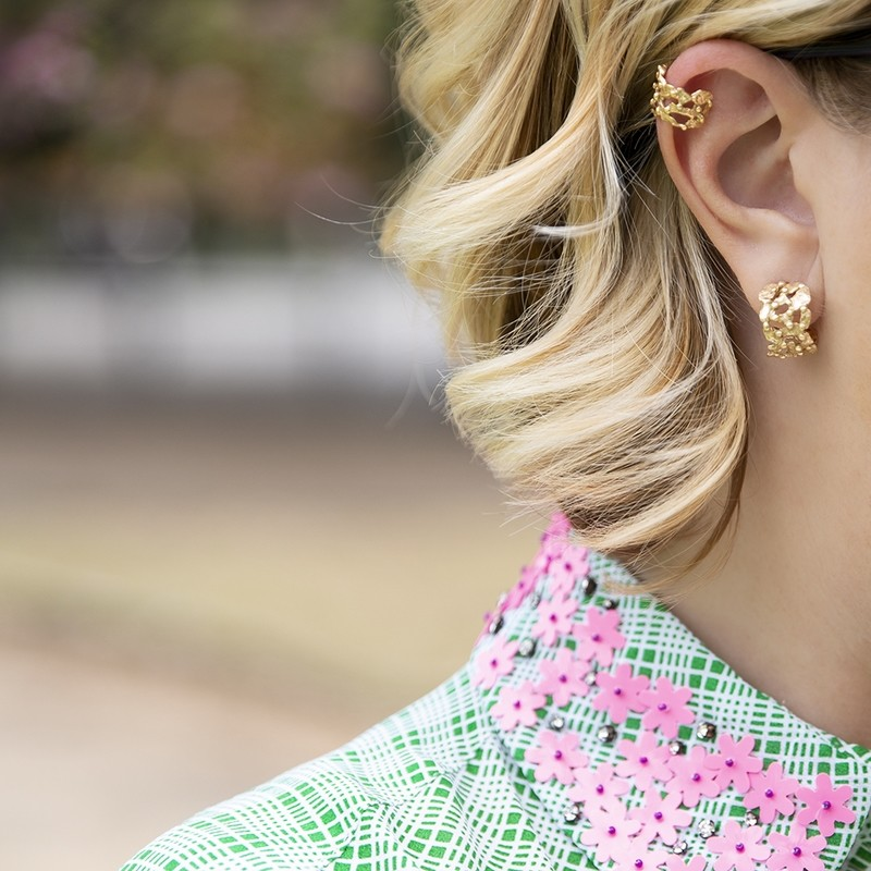 Ear Cuff Pebbles - Giulia Barela Jewelry