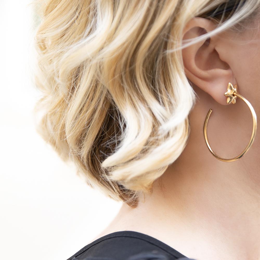 Orecchini Hoop Stars Big - Giulia Barela Jewelry