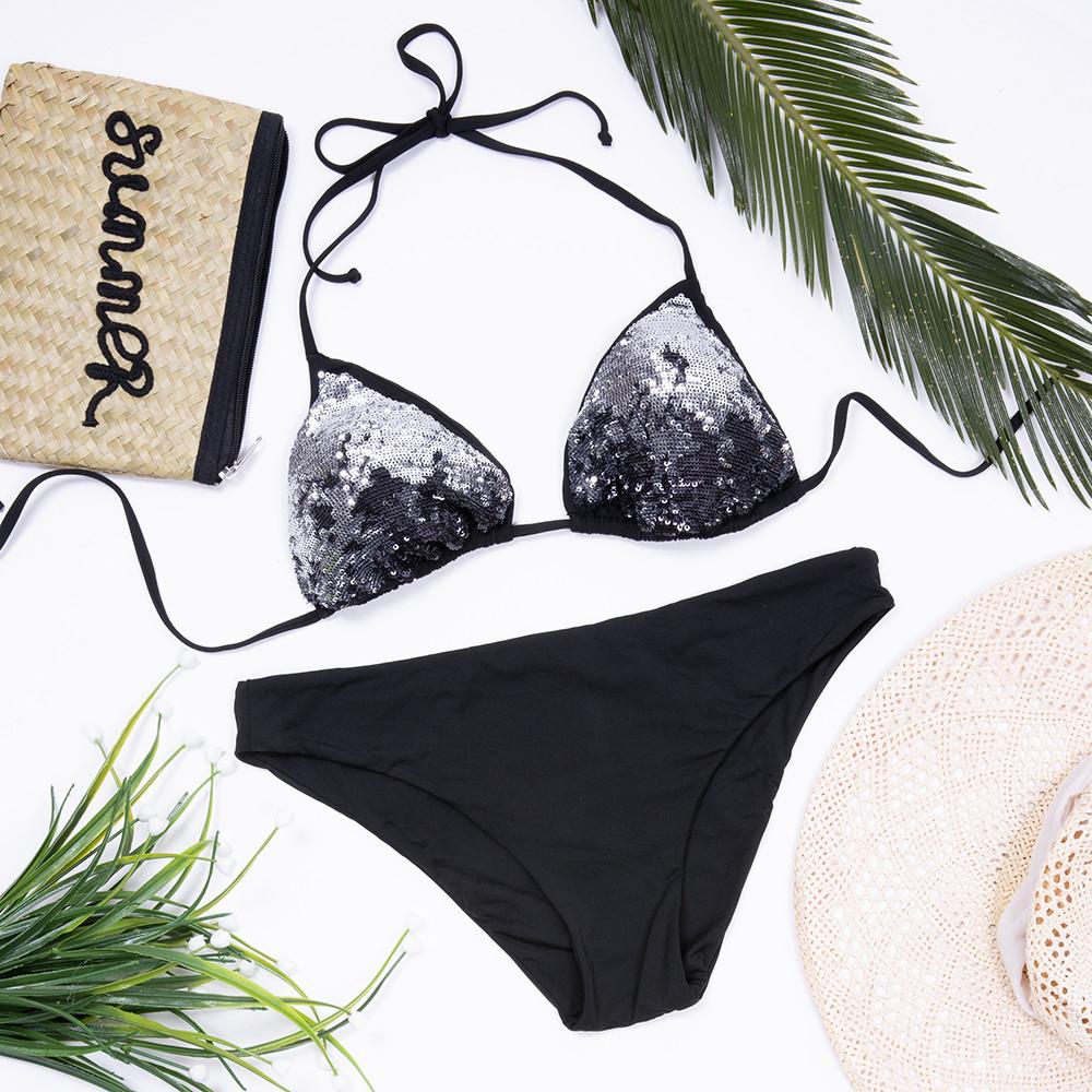 Bikini Nero Pailettes - Costumi e Caffè