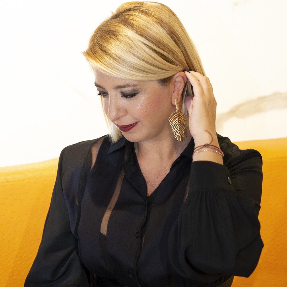 Orecchini Piuma - Giulia Barela Jewelry