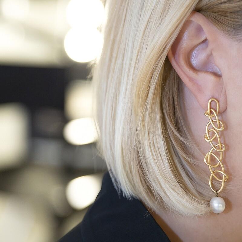 Orecchini pendenti Knot - Giulia Barela Jewelry