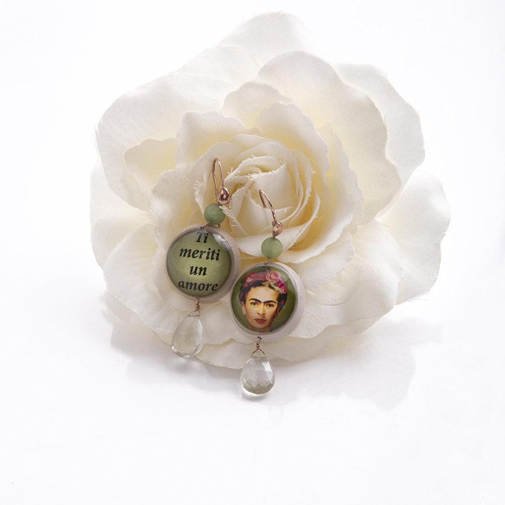 Orecchini Frida Kahlo di 20 Celesti Bijoux 00013
