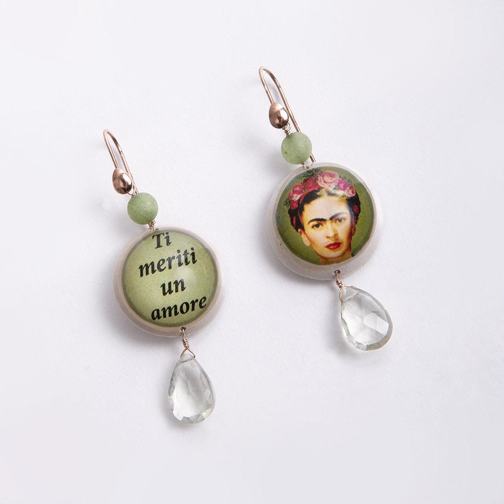 Orecchini Frida Kahlo di 20 Celesti Bijoux