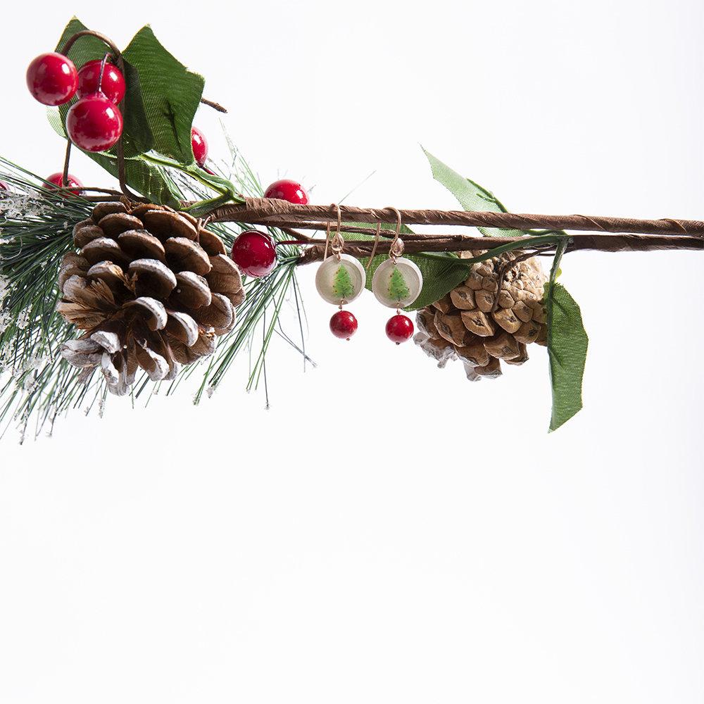Orecchini Christmas Zaffiro Rosso di 20 Celesti Bijoux 00018