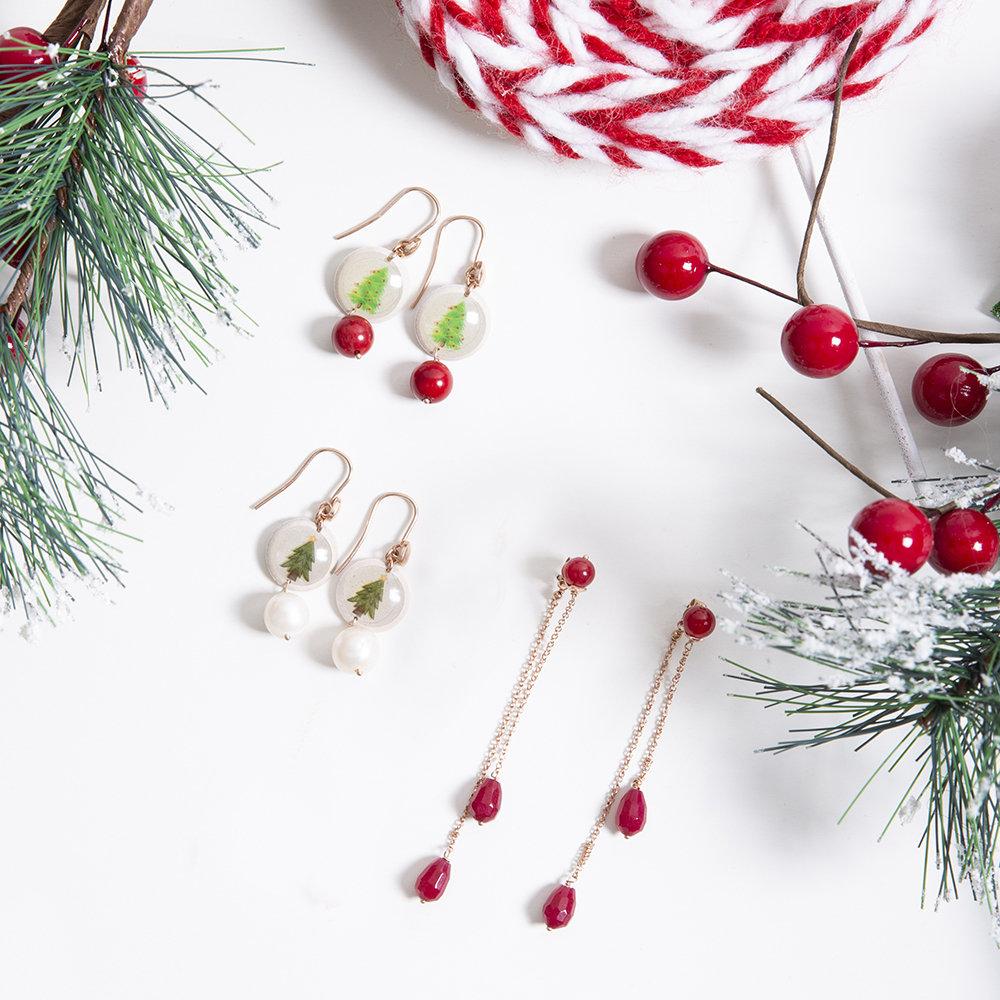 Orecchini Christmas Zaffiro Rosso di 20 Celesti Bijoux