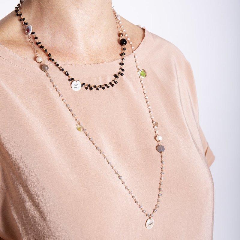 Collana Multicolor Nera di 20 Celesti Bijoux