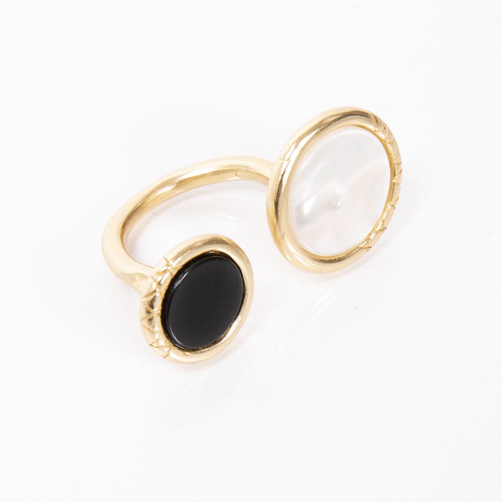 Anello Ouroboro Double Stone - Giulia Barela Jewelry