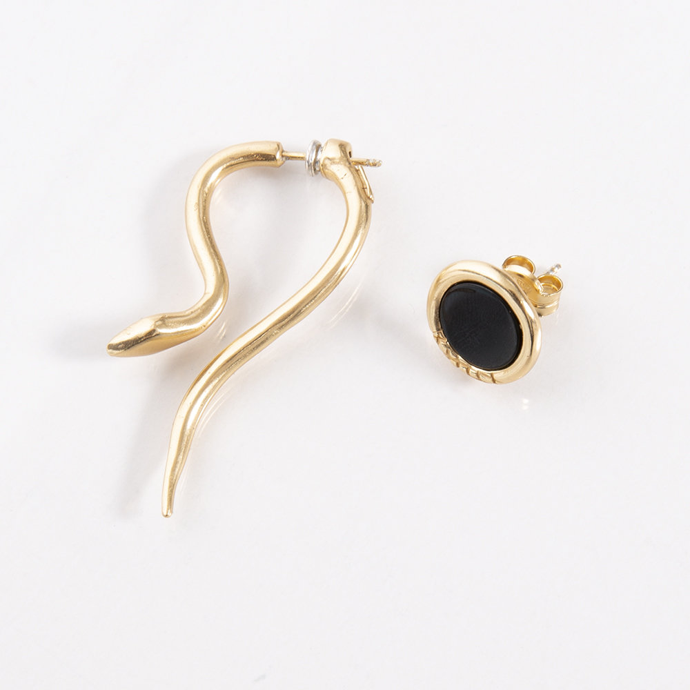 Orecchini Hooked e Ouroboro Stone - Giulia Barela Jewelry 00035
