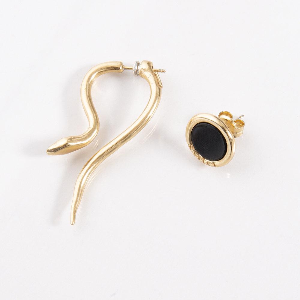 Orecchini Hooked e Ouroboro Stone - Giulia Barela Jewelry