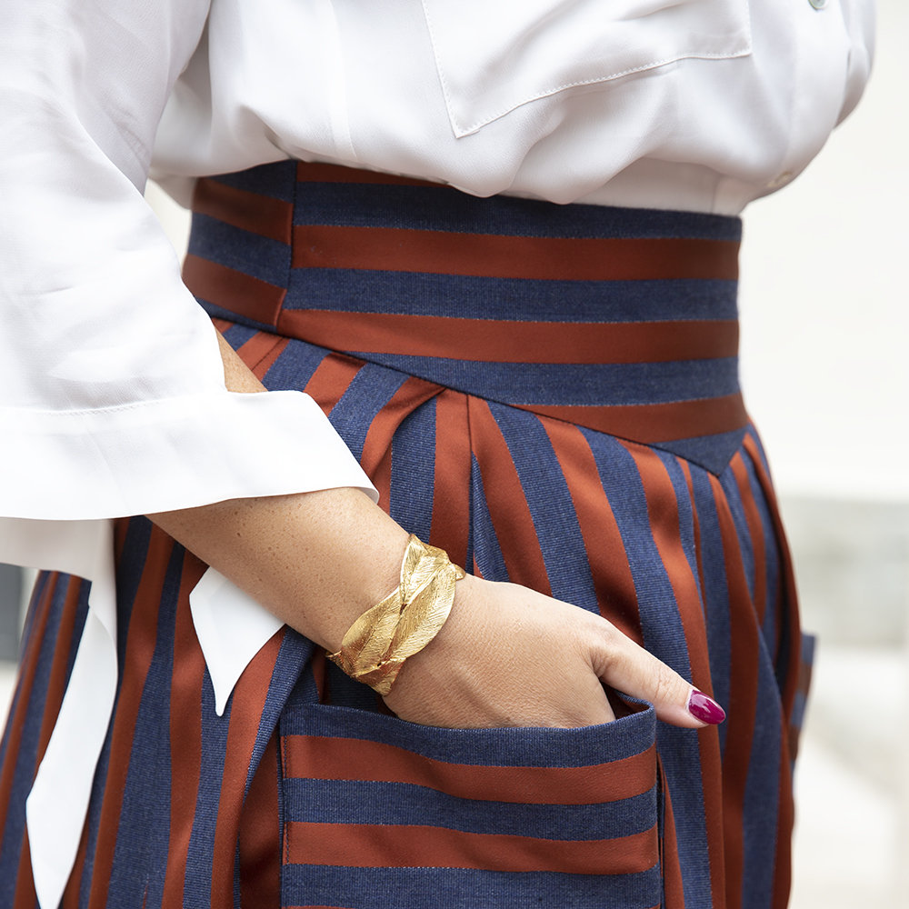 Bracciale Leaves Double - Giulia Barela Jewelry