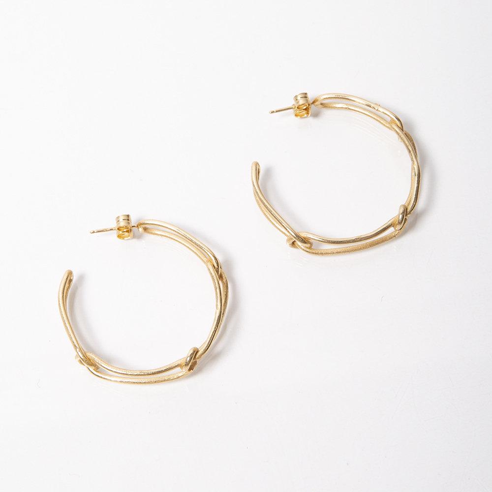 Orecchini Knot Light Hoop - Giulia Barela Jewelry