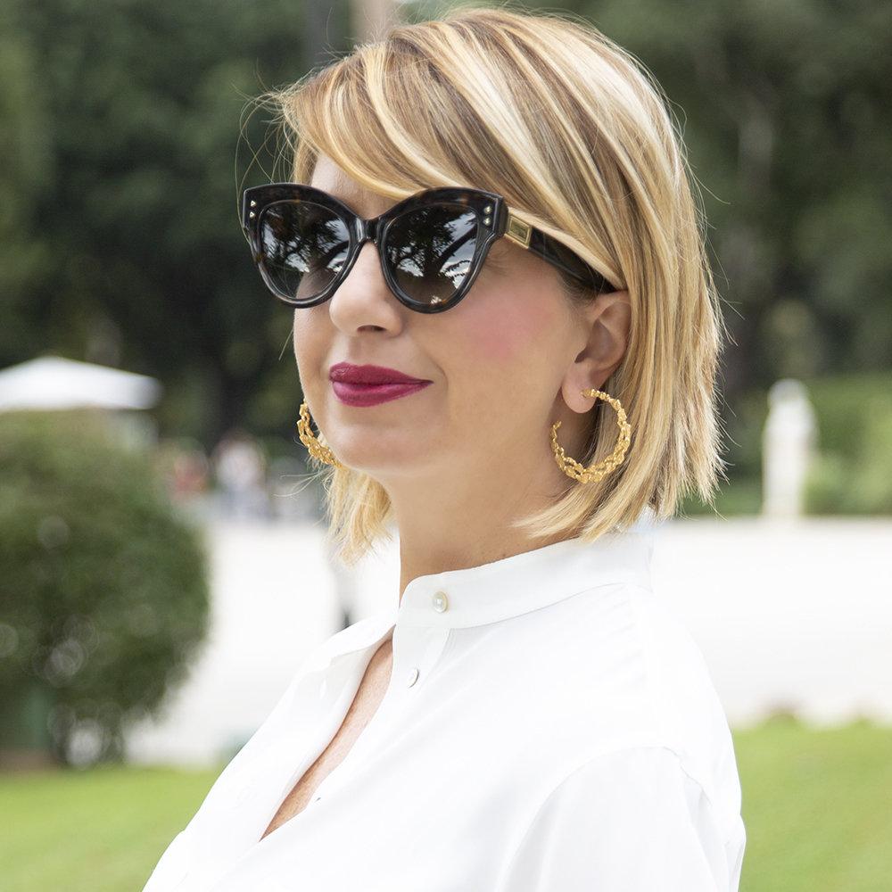 Orecchini Pebbles Hoop - Giulia Barela Jewelry