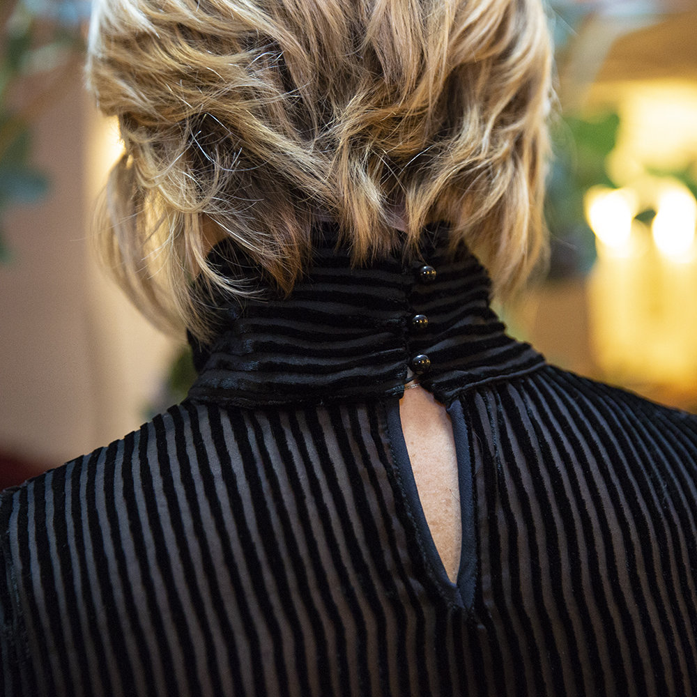 Blusa in velluto di seta di Luluredgrove