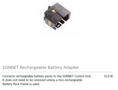 SONNET Rechargeable Battery Adapter