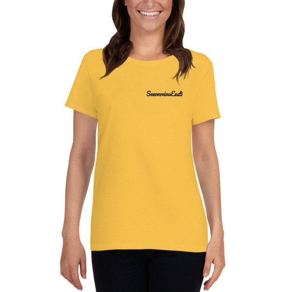 Women's short sleeve t-shirt with See on Minu Eesti Logo