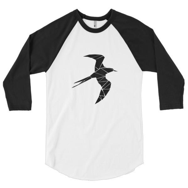 3/4 Sleeve Raglan Shirt With a Swallow