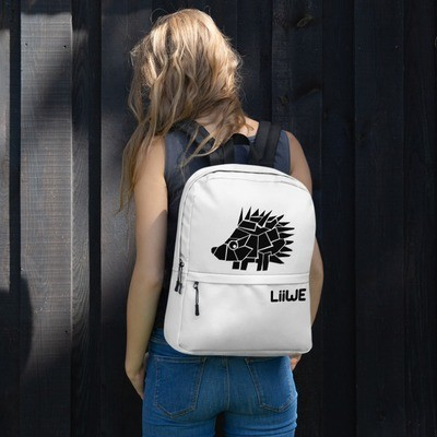 Backpack with a Hedgehog (Black and White)