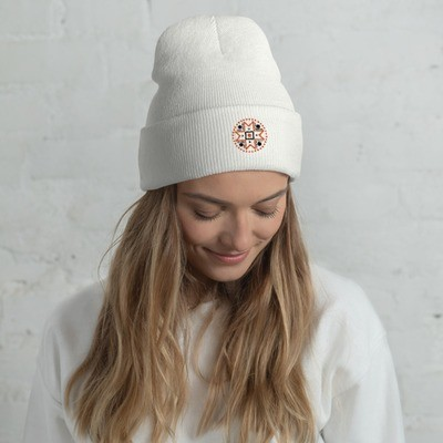 Cuffed Beanie with a Muhu Motif