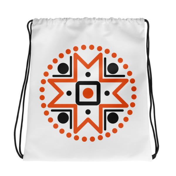 Drawstring bag with Muhu Island Motif