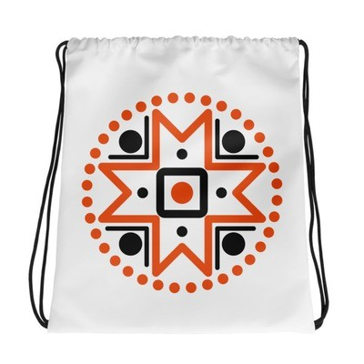 Drawstring bag with Muhu Island Motif