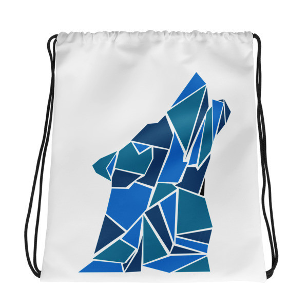 Drawstring bag with a Wolf Logo