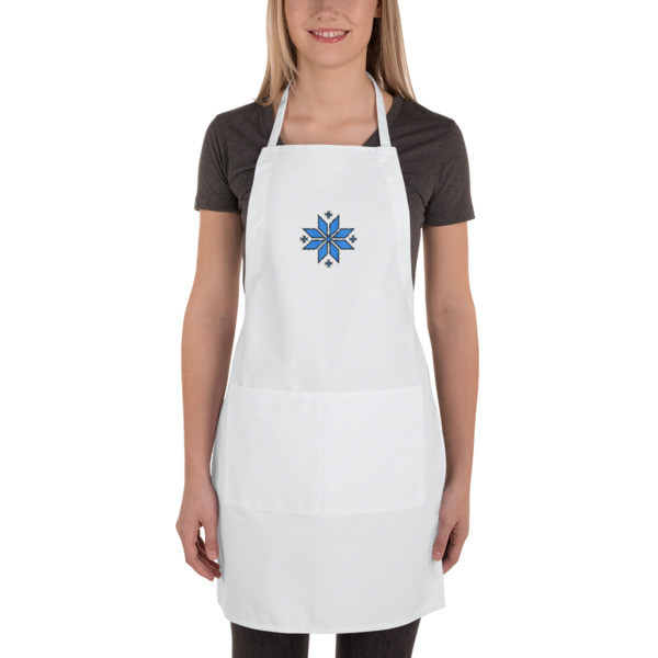 Embroidered Apron with a Morning Star Motif