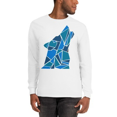 Long Sleeve T-Shirt (unisex) with a Wolf Logo