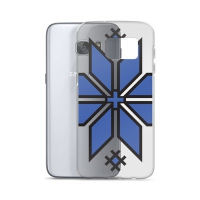 Samsung Case with a Morning Star Logo (blue and black)