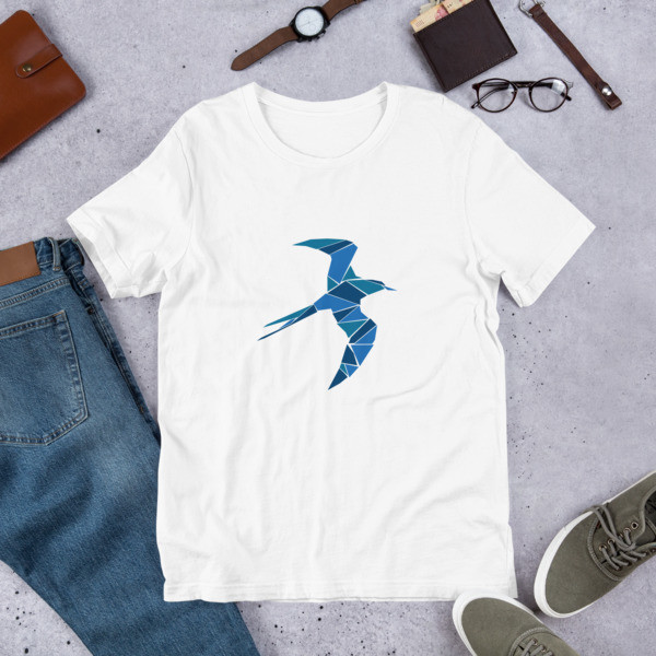 Short-Sleeve Unisex T-Shirt With a Swallow Logo