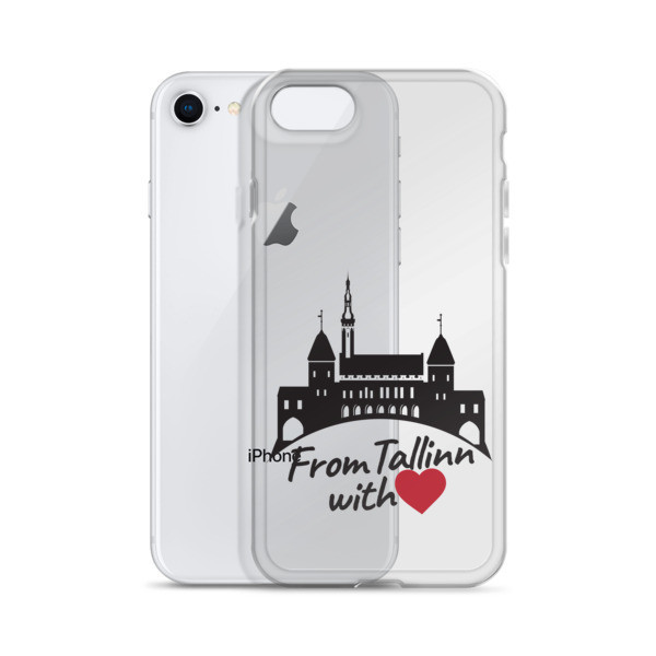 iPhone Case with From Tallinn with Love Motif (Black and Red Heart)