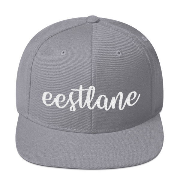 Embroidered Snapback Hat with Eestlane Logo