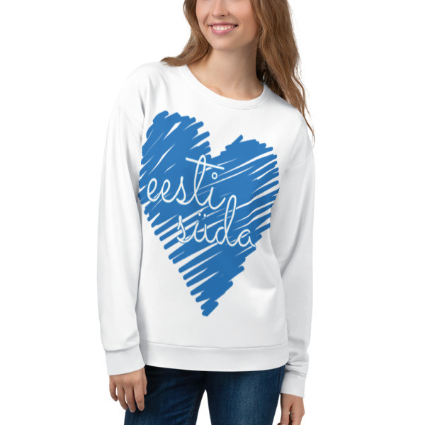 Unisex Sweatshirt with Estonian Heart (eesti süda) Print