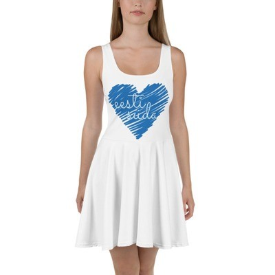 Skater Dress with Estonian Heart (eesti süda) Print