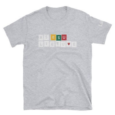 Female Short-Sleeve T-Shirt with I am Lithuanian (Aš esu lietuvė) Logo