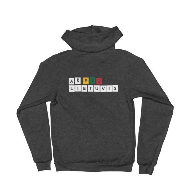 Male Hoodie Sweater with I am Lithuanian (Aš esu lietuvis) Logo