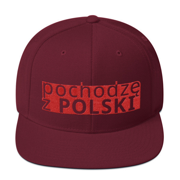 Snapback Hat with I am from Poland Logo