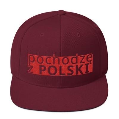 Snapback Hat with I am from Poland Logo
