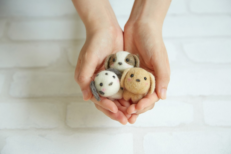 набор для валяния из шерсти Маленькие друзья (щенки)