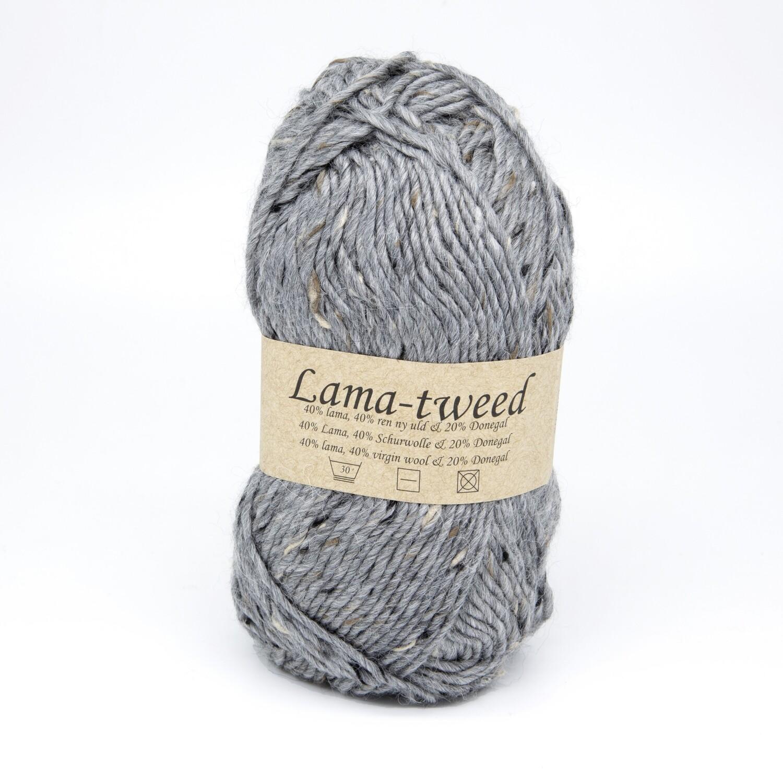 lama tweed серый 6442