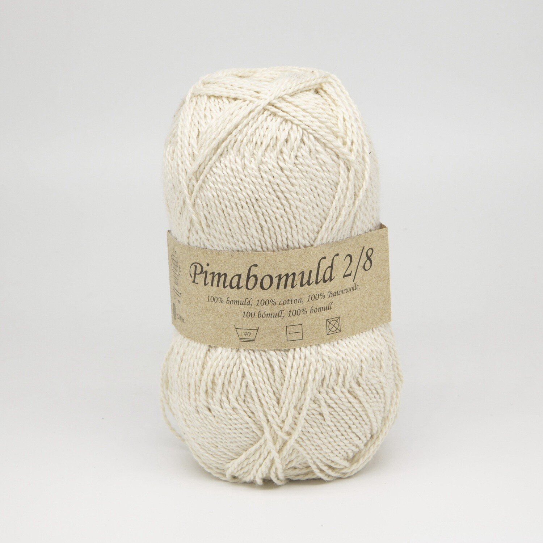 pima bomuld натуральный белый 3000