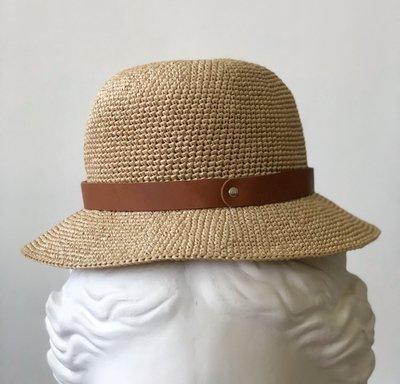 шляпная лента из кожи рыже-коричневая (04)