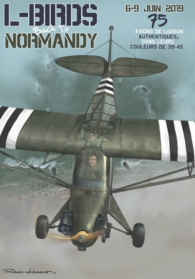 Poster L-Birds back to Normandy by Romain Hugault