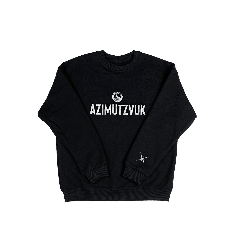 AZIMUTZVUK СВИТШОТ - ЧЕРНЫЙ