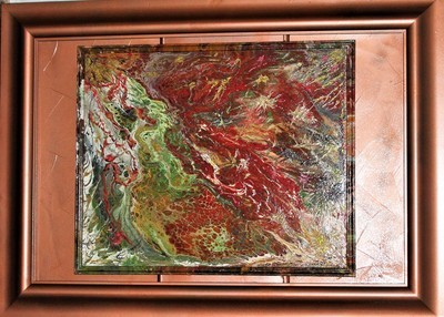 31 X 43 ORIGINAL ABSTRACT PAINTING: