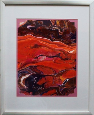 18 X 22 ORIGINAL ABSTRACT PAINTING:
