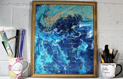 18 X 21 ORIGINAL ABSTRACT PAINTING: