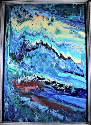 21 X 29 ORIGINAL ABSTRACT PAINTING: