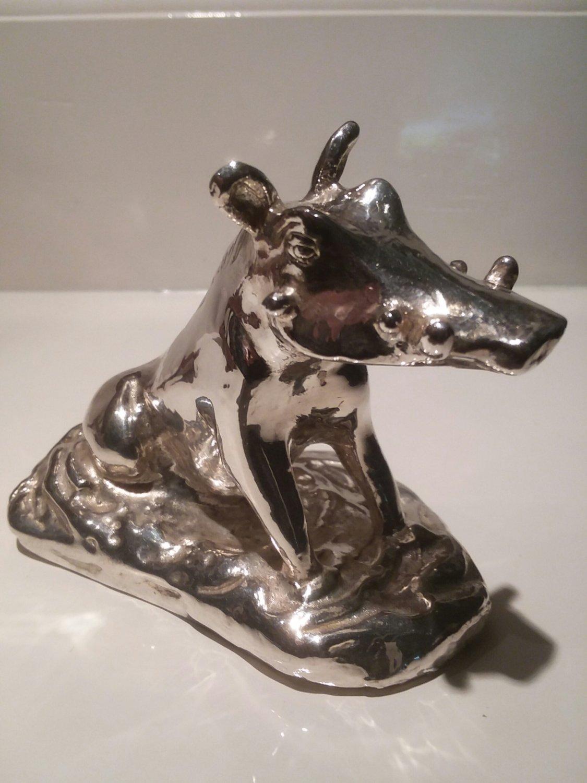 Sterling silver warhog paperweight