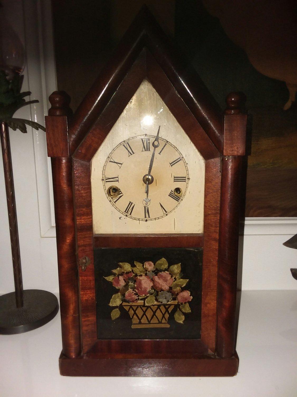 Steple Clock 1820s Mahogany